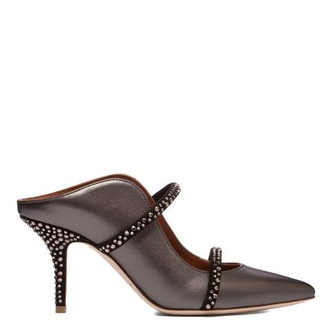 Malone Souliers Anthracite Maureen Crystal Pointed Mules