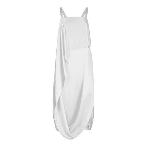 Temperley London White Darling Draped Silk Blend Dress