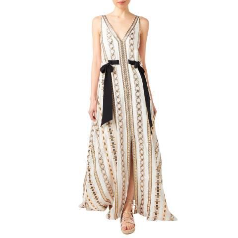 Temperley London Multi Print Sleeveless Spirit Silk Blend Maxi Dress