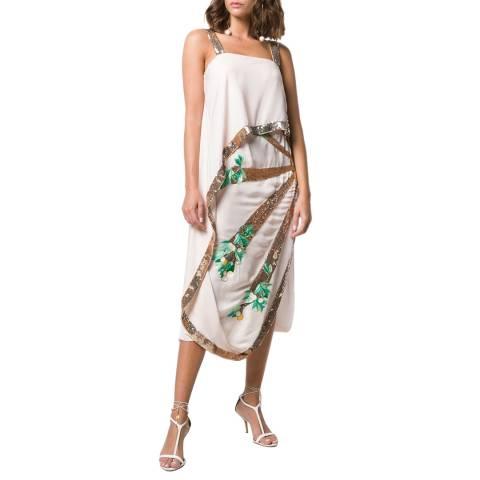 Temperley London Multi Sequin Sycamore Silk Blend Midi Dress