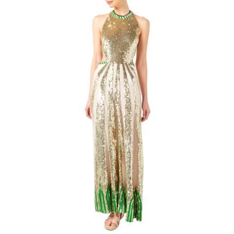 Temperley London Multi Sequin Sycamore Silk Maxi Dress