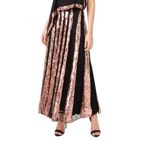 Temperley London Black Sycamore Maxi Skirt