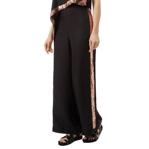 Temperley London Black Sycamore Silk Blend Trousers