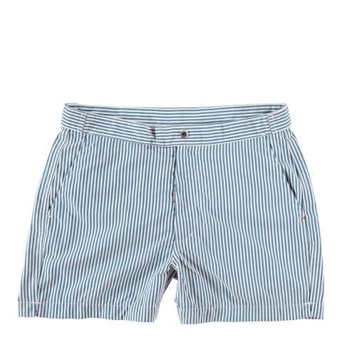 Love Brand & Co Blue Lines Club Swim Short