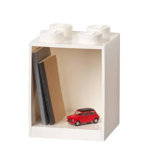 Lego White 4 Brick Shelf