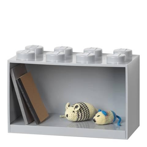 Lego Stone Grey 8 Brick Shelf