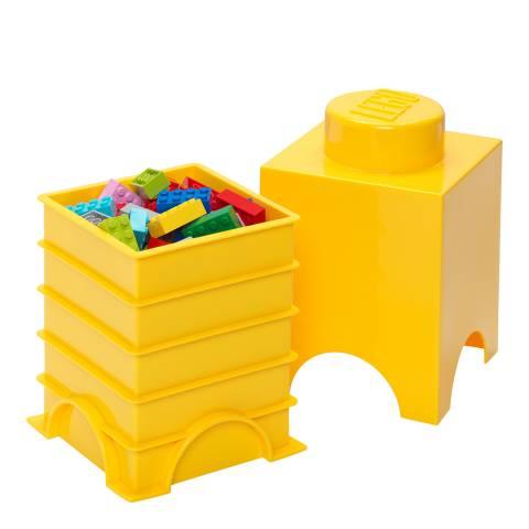 Lego Bright Yellow 1 Brick Storage Box