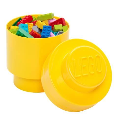 Lego Bright Yellow 1 Brick Round Storage Box