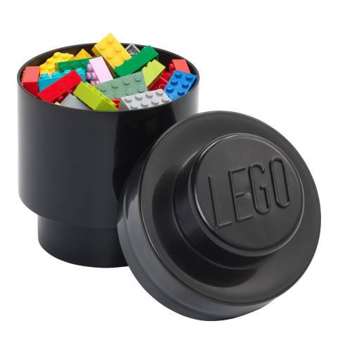 Lego Black 1 Brick Round Storage Box