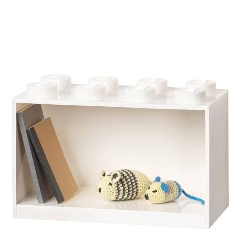 Lego White 8 Brick Shelf