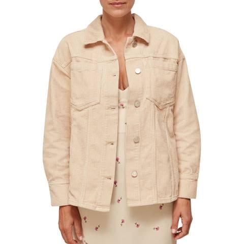 WHISTLES Ivory Corduroy Overshirt Jacket