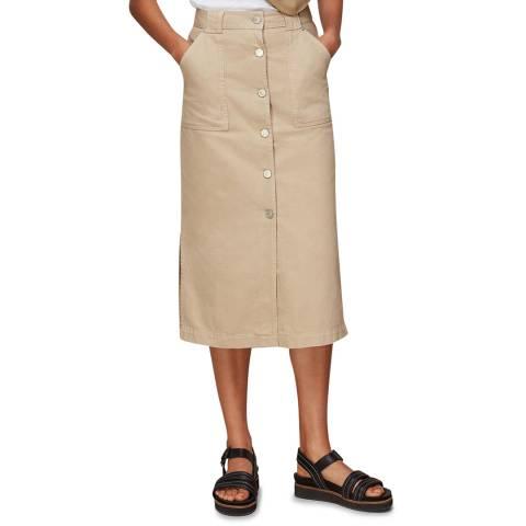 WHISTLES Stone Utility Denim Skirt