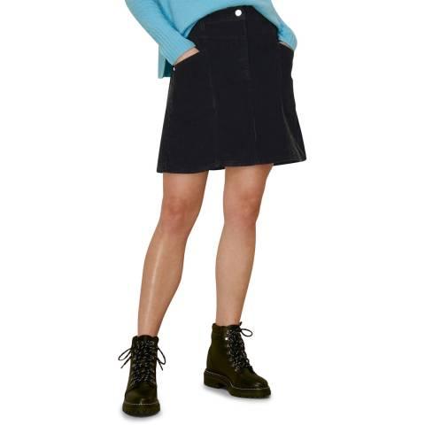 WHISTLES Black Cord A Line Skirt