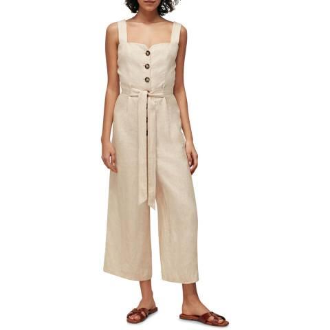 WHISTLES Stone Hadley Linen Jumpsuit