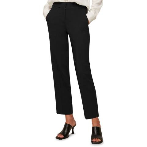 WHISTLES Black Kate Classic Trousers