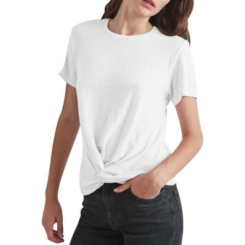 Velvet By Graham and Spencer White Knot Linen T-Shirt