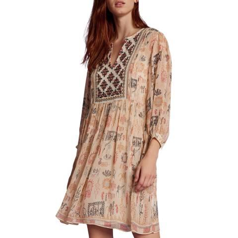 Velvet By Graham and Spencer Multi Cleo Print Mini Dress