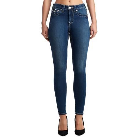 True Religion Dark Blue Jennie Curvy Stretch Jeans