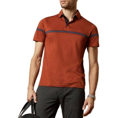 Ted Baker Orange Kargo Cotton Polo Top