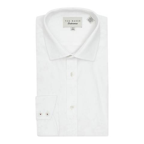 Ted Baker White Coddfi Floral Cotton Shirt
