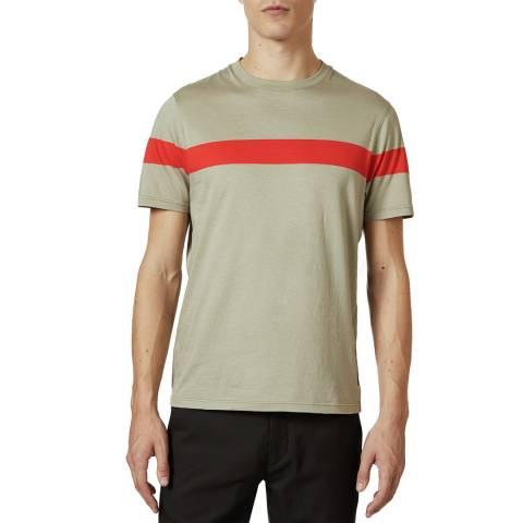 Ted Baker Ecru Central Stripe Cotton T-Shirt