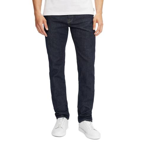 Ted Baker Navy Rinse Denim Straight Fit Cotton Jean