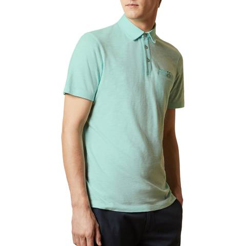 Ted Baker Mint Shakerr Cotton Polo Top