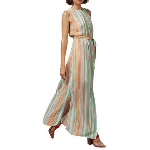 Ted Baker Multi Canpar Stripe Sleeveless Maxi Dress