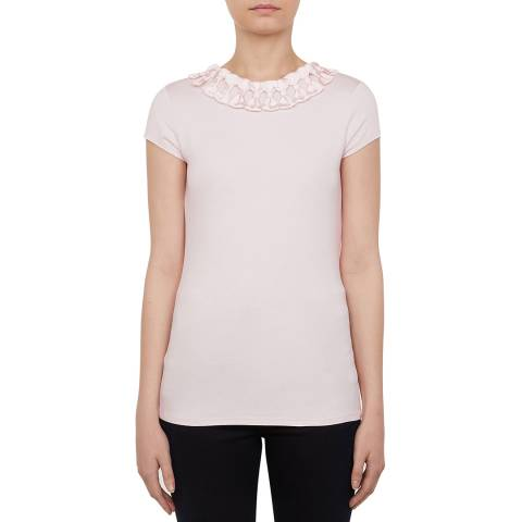 Ted Baker Pink Charre Bow Neck Detailed T-Shirt