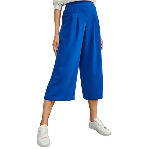 Ted Baker Royal Blue Pleated Culotte