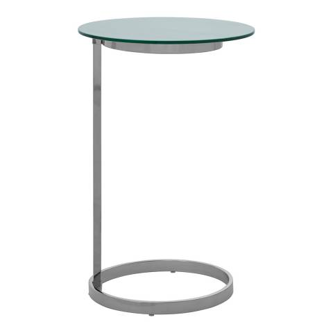 Fifty Five South Oria End Table With White Marble Effect Glass Top