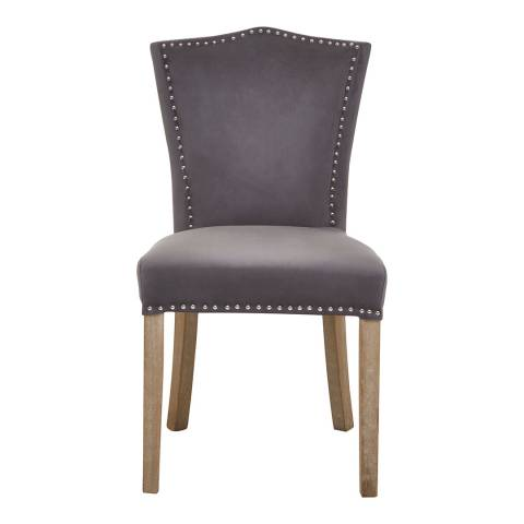 Fifty Five South Kensington Townhouse Grey Velvet Dining Chair