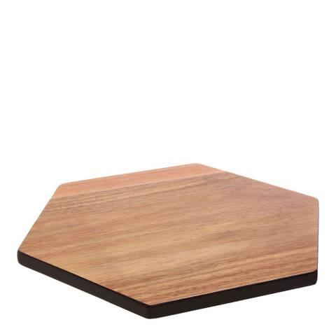 Premier Housewares Socorro Hexagonal Black Edge Chopping Board