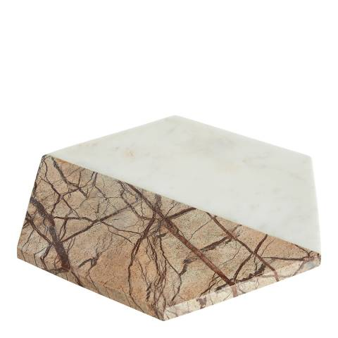 Premier Housewares White / Brown Forest Marble Chopping Board