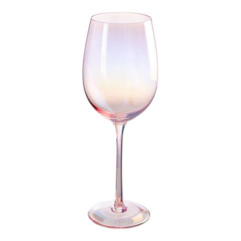Premier Housewares Frosted Deco Set of 4 Wine Glasses