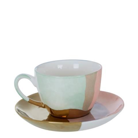Premier Housewares Colour of Paradise Hand Painted Cup & Saucer