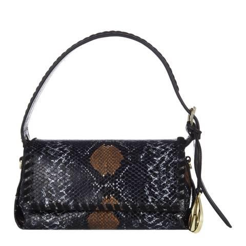 Amanda Wakeley Blue Multi The Baguette Costner Shoulder Bag