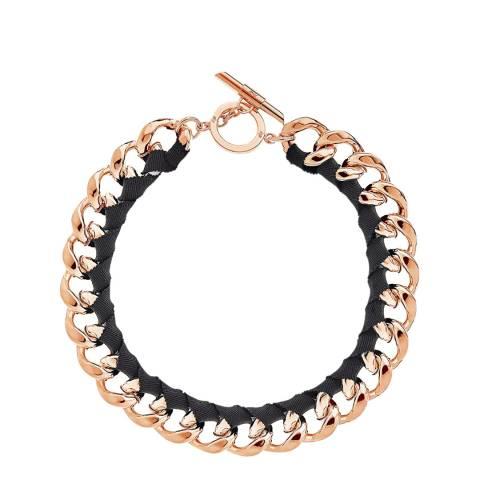 Amanda Wakeley Pink Multi Ribbon Curb Necklace