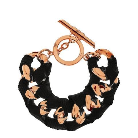 Amanda Wakeley Rose Gold Multi Ribbon Curb Bracelet
