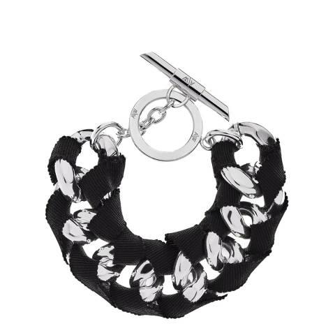 Amanda Wakeley Silver Metallic Ribbon Curb Bracelet