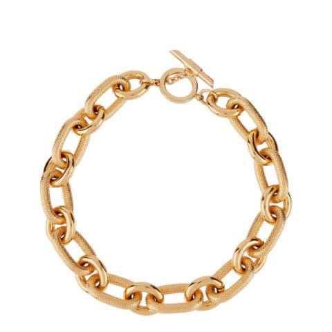 Amanda Wakeley Gold Metallic Textured Link Necklace