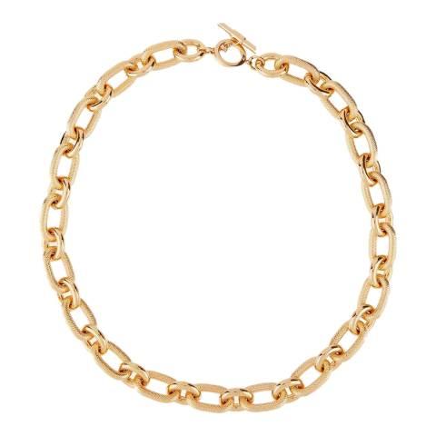 Amanda Wakeley Gold Metallic Textured Link Long Necklace