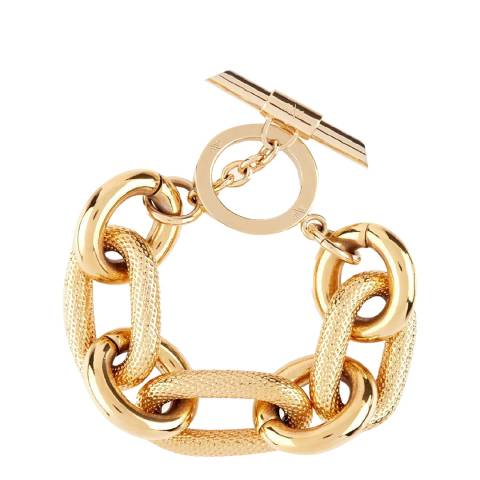 Amanda Wakeley Gold Metallic Textured Link Bracelet