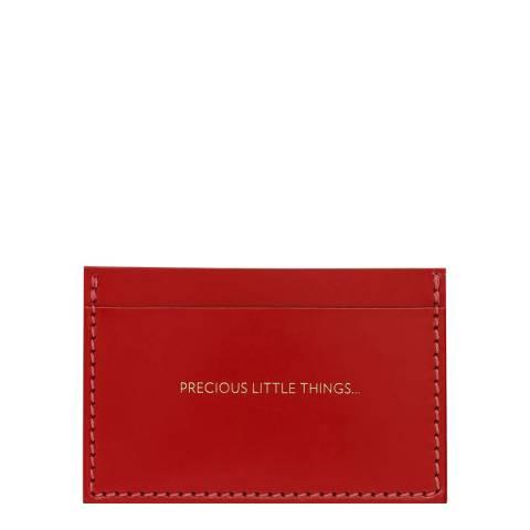 Amanda Wakeley Dark Red Precious Cardholder