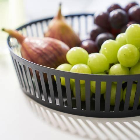 Yamazaki Black Tower Fruit Basket Wide