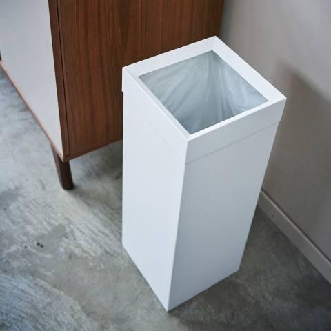 Yamazaki White Tower Tall Trash Can