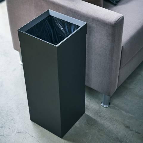 Yamazaki Black Tower Tall Trash Can