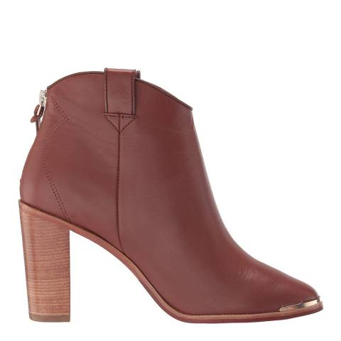 Ted Baker Tan Kasidy Leather Ankle Boot