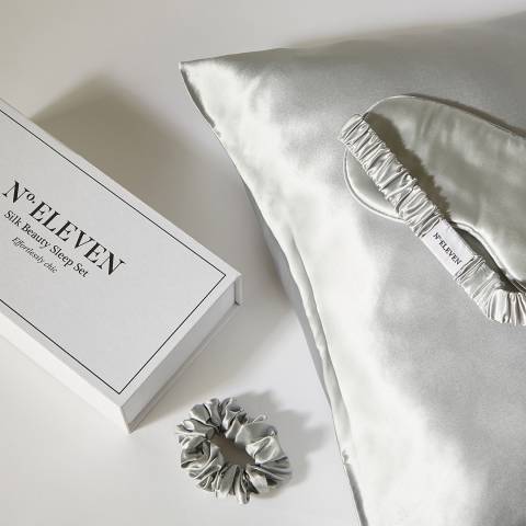 N°· Eleven Silk Beauty Sleep Set, Grey