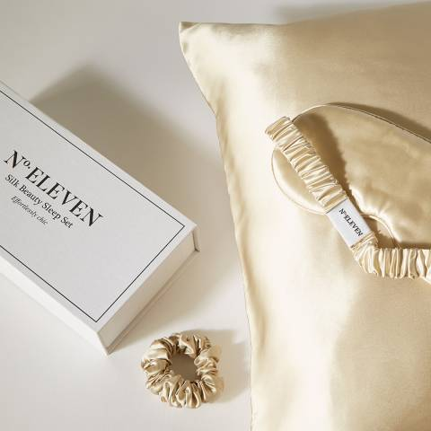 N°· Eleven Silk Beauty Sleep Set, Caramel